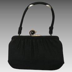 """Vintage """"Deco"""" Handbag with Unusual Frame"""