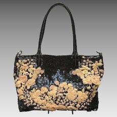Vintage Garavani Valentino Sequined Large Bag