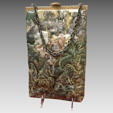 """Vintage Delill """"Scenic"""" Purse with Embroidery"""