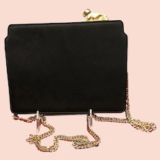 """Vintage Meyers Evening Purse with """"Lion Cub"""" Frame"""