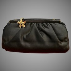 Vintage Leiber Silk Purse with Jeweled Starfish
