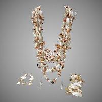 Vintage Gerda Lynggaard/Monies: Necklace Bracelet and Earring/Signed