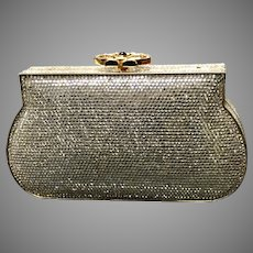 VIntage Leiber Swarovski Crystal  Minaudiere Purse with Ornate Clasp...Large Size