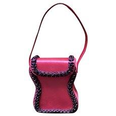 VIntage Renaud Pellegrino Sculptural Handbag with Ruffles