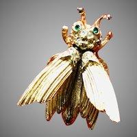 Vintage Pauline Rader Trembler Bee Brooch