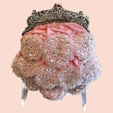 Vintage Badgley Mischaka Pink Glittering Evening Purse