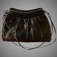 Vintage Early Leiber Alligator Satchel Handbag