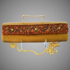 Vintage Rodo Suede Bag with Jewels