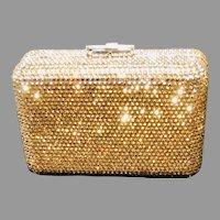 Vintage Leiber Swarovski Crystal  Encrusted Minaudiere