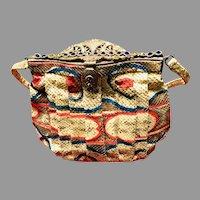 Vintage Artbag Snakeskin Purse with Jeweled Frame