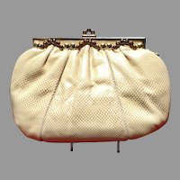 VIntage Leiber Karung Purse with Jeweled Frame