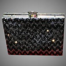 Vintage Leiber Swarovski Encrusted Purse with Deco Flair