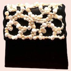 Vintage Moo Roo Silk Purse with Unusual Ornamentation