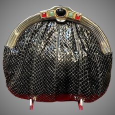 Vintage Early Leiber Python Purse with Jeweled Frame