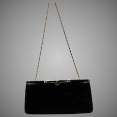 Vintage Large Leiber Bag with Chunky Chain
