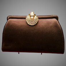 Vintage Leiber Large Evening Bag with Ornate Shell Clasp