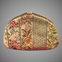 Vintage Leiber Patchwork Tapestry Purse with Swarovski Crystals
