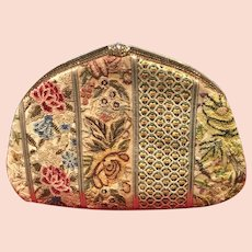 Vintage Leiber Patchwork Tapestry Purse with Swarovski Crystals