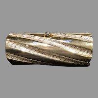 Vintage Leiber Cylinder Minaudiere with Swarovski Crystals