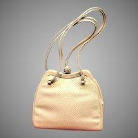 Vintage Leiber Karung Handbag with Ornate Clasp