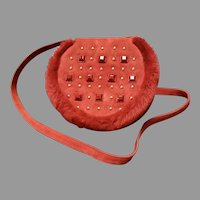 Vintage Renaud Pellegrino Suede Bag with Ornamentation