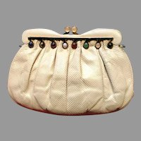 Vintage Leiber Karung Purse with Jewels