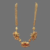 Vintage Rare Leiber Ingot Necklace with Asian Flair