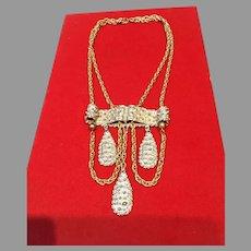 Vintage Rader Etruscan Necklace- Gold/Silver
