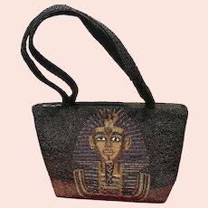 Vintage Egyptian Beaded Handbag