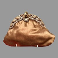Vintage Bronze Colored Purse with Austrian Crystals ***NWT***