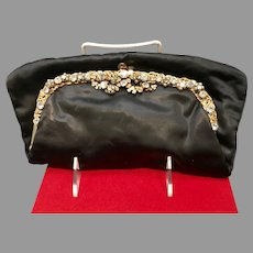 Vintage Ingber Foldover Clutch/Purse with Rhinestones