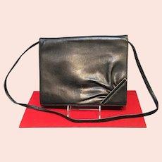 VIntage Valentino Navy Leather Purse