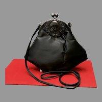 "Vintage Ruth Saltz Handbag with Figural ""Cameo"" Frame"