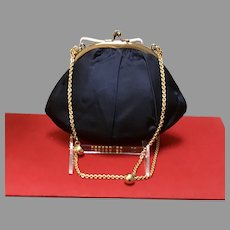 Vintage Koret Purse with Gold Chain and Balls