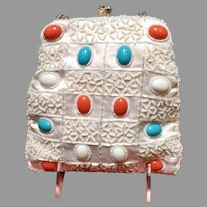 Vintage Walborg Beaded Purse with Huge Jewels