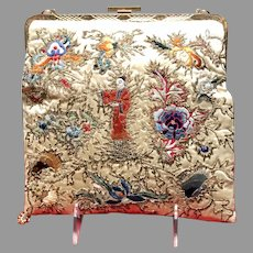 Vintage Embroidered Purse with Asian Flair