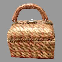 Vintage Koret Woven Wicker Handbag