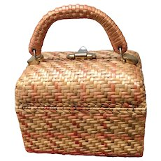 Vintage Koret Woven Wicker Handbag