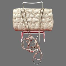 Vintage Petite Leiber Purse with Embroidery and Chains