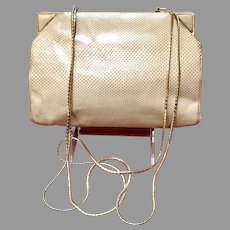 Vintage Early Leiber Karung Purse with Chains