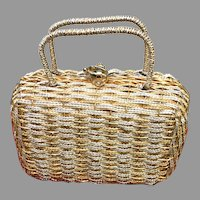 Vintage Koret Gold and Silver Woven Metal Purse/Handbag