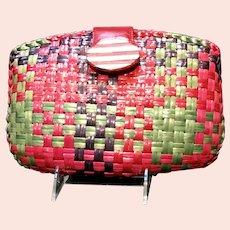 Vintage Rodo Woven Colorful Wicker Purse