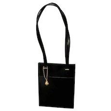 Vintage Mikimoto Leather Handbag with Pearl Adornment