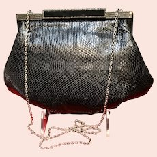 Vintage Jacomo Purse with Exotic Skins and Jeweled Frame