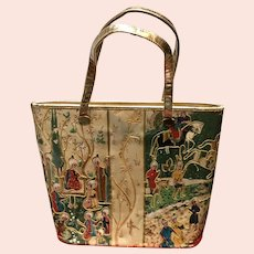 VIntage Huge Delill Tote Bag with Persian Motif