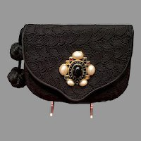 Vintage Leiber Handbag with Passementiere and Ornate Jeweled Ornamentation