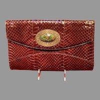 Vintage Jacomo Python Purse with Huge Center Ornament