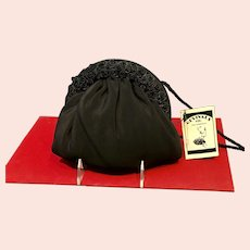 Vintage Revivals by Jane Goldban Little Black Bag with Florets *NWT*