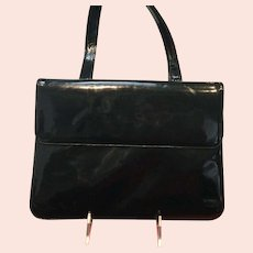 """Vintage Leiber """"Two for One"""" Purse  Lizard Skin/Patent Leather"""