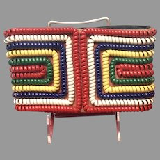 Vintage Telephone Coil Primary Colors Small Clutch Purse